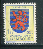 LUXEMBOURG- Y&T N°571- Oblitéré (armoirie) - Usados