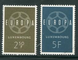 LUXEMBOURG- Y&T N°567 Et 568- Neufs Sans Charnière ** (Europa) - Nuevos