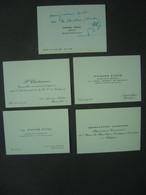 Lot De 4 Cartes De Visite - Personnages Divers - Visiting Cards