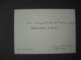 Carte De Visite - GASTON DIEHL , écrivain - Visiting Cards
