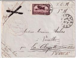 MAROC - 1931 - ENVELOPPE FM AVION Du SERVICE METEO ! De RABAT => LA CLAYETTE - Military Postmarks From 1900 (out Of Wars Periods)
