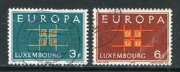 LUXEMBOURG- Y&T N°634 Et 635- Oblitérés (Europa) - Usados