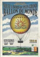 Carte Publicitaire Chantilly Le Ballon Captif Aérophile - Chantilly