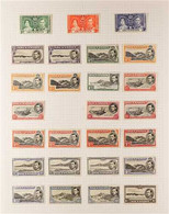 1937-1953 COMPREHENSIVE KGVI MINT COLLECTION. A Comprehensive Collection Presented On Inter-leaved Album Pages With A Co - Ascensión