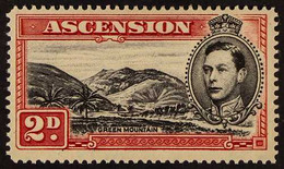 1938-53 2d Black & Scarlet MOUNTAINEER FLAW, SG 41ca, Very Fine Mint, Fresh. For More Images, Please Visit Http://www.sa - Ascensión