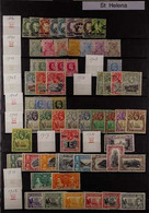 BRITISH SOUTH ATLANTIC ISLANDS 1884-2011 COLLECTION On Stock Pages, Mint (some Never Hinged) And Used Stamps, Includes A - Ascensión