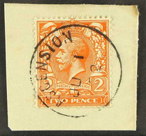 GB USED IN 1912-22 2d Orange, SG Z42, On A Piece With Full June 1922 Cds. For More Images, Please Visit Http://www.sanda - Ascensión