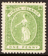 1878 1d Green, Wmk Upright, SG 22b, Fine Mint. For More Images, Please Visit Http://www.sandafayre.com/itemdetails.aspx? - Britse Maagdeneilanden