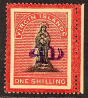 1888 4d On 1s Black And Rose-carmine, Toned Paper, SG 42, Fine Mint Marginal, Toned Gum. For More Images, Please Visit H - Britse Maagdeneilanden
