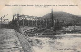 SARRAS - Passage Du Premier Train, Le 25 Octobre 1907, Sur Le Pont Métallique, Système Eiffel, Construit En 15 Jours - Other Municipalities