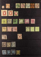 1850's-1870's MOSTLY USED COLLECTION On Stock Pages, Includes Bergedorf, North German Confederation 1868 Both Roul Sets  - Ohne Zuordnung