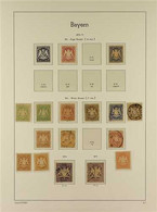 BAVARIA 1870-1920 EXTENSIVE OLD TIME MINT & USED COLLECTION Presented On Hingeless Album Pages With Many Top Values & Co - Ohne Zuordnung