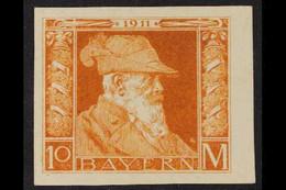"BAVARIA 1911 10m Orange, Die II, Variety ""IMPERFORATE"", MMi 90IIU, Very Fine Mint. For More Images, Please Visit Http:// - Ohne Zuordnung"