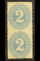 SCHLESWIG - HOLSTEIN 1865 2s Grey-blue Issue For Holstein, Mi 21, Superb Mint Vertical Pair, Lower Stamp NHM. For More I - Ohne Zuordnung