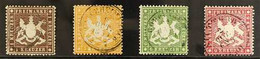 WURTTEMBERG 1860 Perf 13½ On Thick Paper Complete Set, Michel 16x/19x, Fine Used. (4 Stamps) For More Images, Please Vis - Ohne Zuordnung