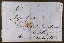 """1855 RUM LETTER (27 Apr) Part Entire Letter Addressed To Scotland, With """"6"""" Manuscript Rate, Plus """"Grenada"""" And Two Tran - Grenade (...-1974)"""