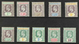 1904 - 6 Ed VII Set Complete, Wmk MCA, SG 67/76, Fine To Very Fine Mint. (10 Stamps) For More Images, Please Visit Http: - Grenade (...-1974)