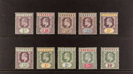 1904-06 Watermark Multi Crown CA Complete Set, SG 67/76, Very Fine Mint. (10 Stamps) For More Images, Please Visit Http: - Grenade (...-1974)