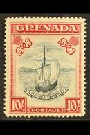 1938 10s Slate Blue And Brt Carmie, Narrow, SG 163b, VfM Cat £300 For More Images, Please Visit Http://www.sandafayre.co - Grenade (...-1974)