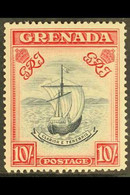 1943 10s Slate Blue And Bright Carmine, Perf 14 Narrow Frames, SG 163b, Fine Never Hinged Mint. For More Images, Please  - Grenade (...-1974)
