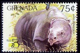 Jauan Rhino, Grenada MNH, Australia 1999 Stamp Expo, Wild Animals - Rhinoceros