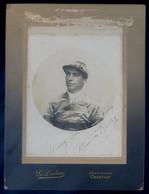 Photo Originale Et Rare Autographe Manuscrit De Milton Henry Jockey Américain Photographe Dubosq Chantilly  Spt21 - Autographs