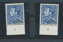 N° 847A**(x2) N° DE PLANCHE 1 Et 2 - ....-1960