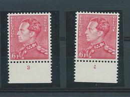 N° 848**(x2) N° DE PLANCHE 3 Et 4 - ....-1960