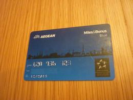 Greece Aegean Airlines Star Alliance Miles & Bonus Silver Member Card (plane/avion/Eiffel Tower/Tour Eiffel) - Aerei