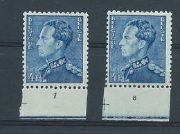 N° 833a**/* (x2) AVEC N° DE PLANCHE 7 ET 8 - ....-1960