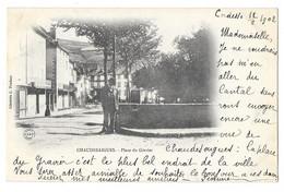 Cpa: 15 CHAUDES AIGUES (ar. Saint Flour) Place Du Gravier (animée, Précurseur) 1902   Ed. A.B & Cie (rare) - Altri Comuni
