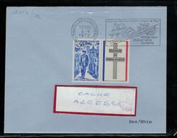 YT 1696  SSL FR AVEC VIGNETTE CROIX DE LORRAINE OBL FL CHATILLON S/CHALARONNE 6/9/72 - 1961-....