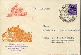 66327 Germany Ddr,stationery Cover 1954 Pfingstreffen Wartburg,eisenach 6.6.1954 Deutscher Philatelisten Treffen - Umschläge - Gebraucht