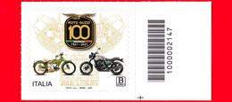 Nuovo - MNH - ITALIA - 2021 - 100 Anni Della Moto Guzzi – B Zona 1 - Barre 2147 - Code-barres