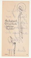 Communion Communieprentje Celluloid Aan De Gezegende Grot Van Lourdes Heb Ik Voor U Gebeden  -  Lourdes 1984 - Aloïs - Communion