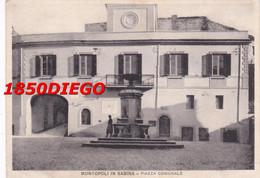 MONTOPOLI IN SABINA - PIAZZA COMUNALE  F/GRANDE VIAGGIATA 193? ANIMATA - Rieti