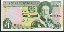 JERSEY P15a 1 POUND 1989  #AC999913     UNC. - Jersey