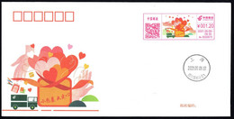 China Postage Machine Meter FDC: Small Package, Big Love (Donated Souvenirs,not For Sale In Postoffice) - Lettres & Documents