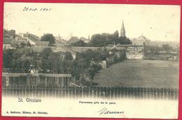 C.P. Saint-Ghislain  = Panorama  Pris  De La Gare - Saint-Ghislain