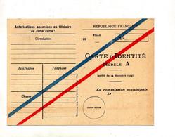Carte Identité Modele A - Historical Documents