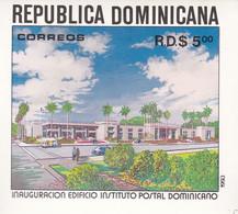 REPUBLICA DOMINICANA. INAUGURACION EDIFICIO INSTITUTO POSTAL DOMINICANO. BLOC 42, AÑO 1993.- LILHU - Dominicaine (République)