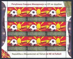 Macedonia 2021 UEFA Euro 2020 European Championship Football Soccer Sports, Mini Sheet MNH - Mazedonien