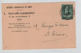 REF4997/ TP 299 S/CP L. Gervalle-Carpentier Huy C.Touristique Huy 30/4/1930 > St Gérard - Storia Postale