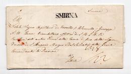 1829 TURKEY,IZMIR,SMYRNA TO ZADAR,ZARA,ITALY,CROATIA - ...-1858 Prefilatelia