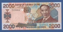 SIERRA LEONE - P.25 – 2.000 LEONES 01.01.2000 XF/AU Serie H/5 235812 - Sierra Leone