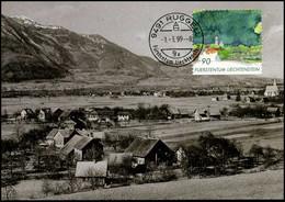 Liechtenstein - MK - 300 Jahre Unterland - Cartoline Maximum