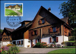 Liechtenstein - MK -  Alte Bauten Und Ortsbildschutz : Schellenberg - Cartoline Maximum