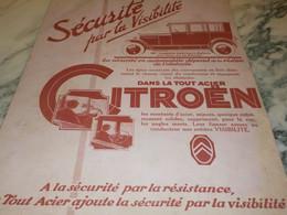 ANCIENNE PUBLICITE SECURITE AVEC  CITROEN   1926 - Cars