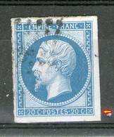 N°14B°_ Type II_Bleu Clair + Trace Du Voisin - 1862 Napoléon III.