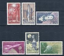 Checoslovaquia 1962. Yvert 1208-13 ** MNH. - Unused Stamps